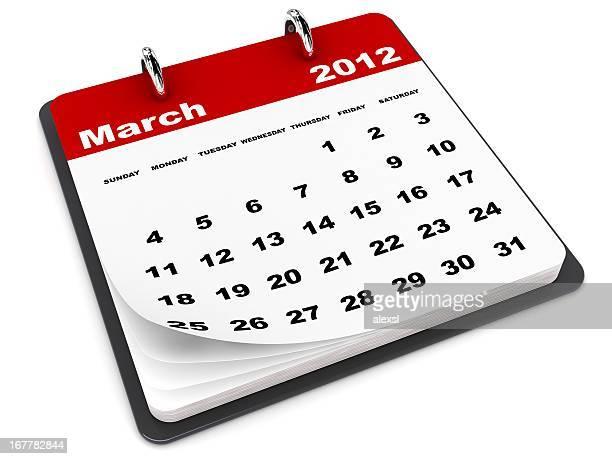 Calendrier mois de mars 2012