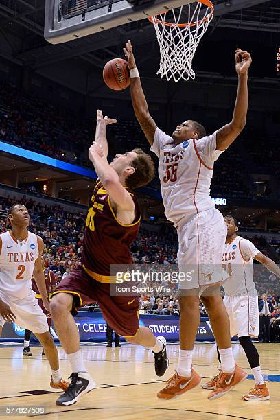 Arizona State Sun Devils center Jordan Bachynski battles with Texas Longhorns center Cameron Ridley in action during the Div I Men's Championship...