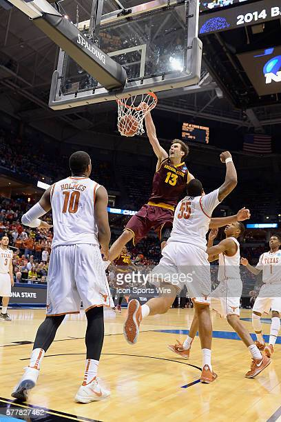 Arizona State Sun Devils center Jordan Bachynski dunks a basket in action during the Div I Men's Championship Second Round game between the Arizona...