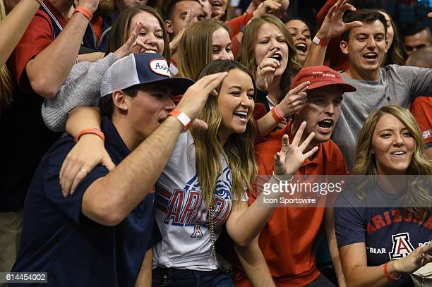 Arizona fans during the men's Pac12 Basketball Tournament game between the Arizona Wildcats and Oregon Ducks at MGM Grand Garden Arena in Las Vegas NV