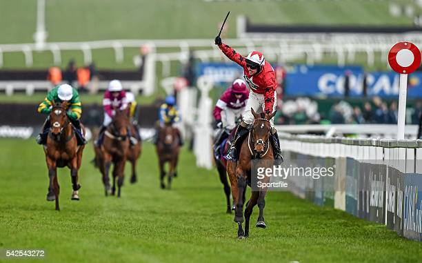 16 March 2016 Blaklion with Ryan Hatch up on their way to winning the RSA Steeple Chase Prestbury Park Cheltenham Gloucestershire England Picture...