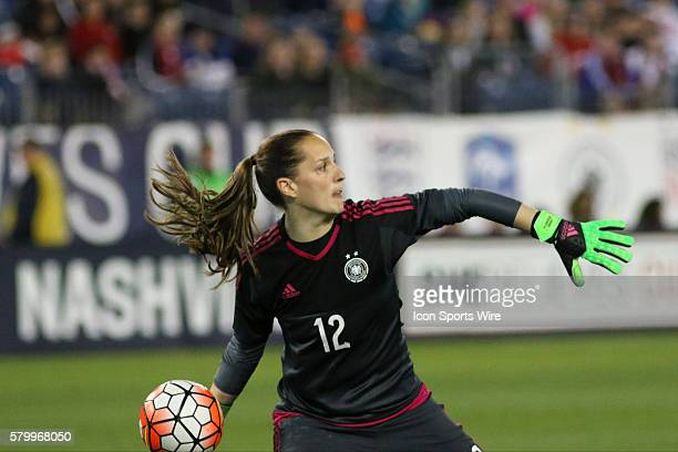 Germany goalkeeper Laura Benkarth in the second game of the SheBelieves Cup between England and Germany Germany defeated England by the score of 21...