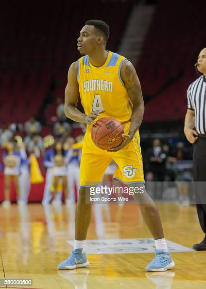 Southern Jaguars guard Chris Thomas during the SWAC Men's basketball tournament championship game between the Southern University Jaguars and Jackson...