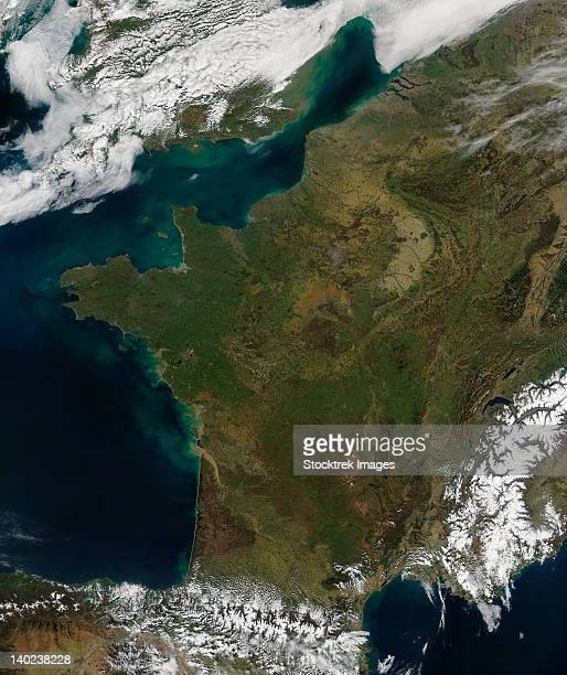 March 21, 2011 - Satellite view of France.