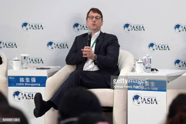 BOAO March 23 2017 CoChairman and CEO of Shanghai Lujiazui International Financial Asset Exchange Co Ltd Gregory D Gibb speaks at a session 'FinTech...