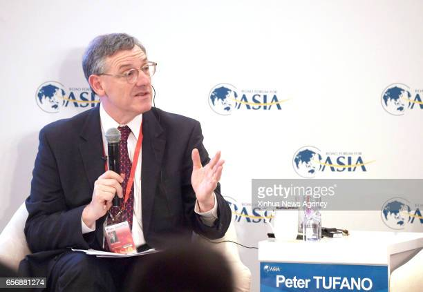 BOAO March 23 2017 Peter Tufano Dean of Said Business School University of Oxford speaks at a session 'FinTech How will it change Finance' at the...