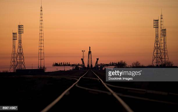 March 24, 2009 - The Soyuz launch pad is seen about an hour before the Soyuz rocket is rolled out to the launch pad at the Baikonur Cosmodrome in Kazakhstan.
