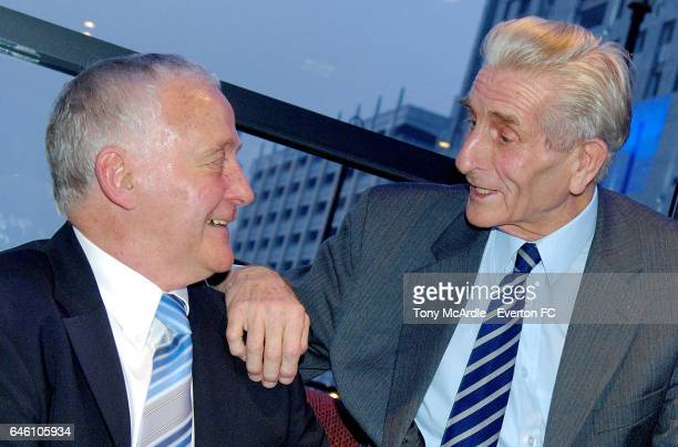 Everton legends Alex Young and Dave Hickson attend an Everton Former Players Dinner in Liverpool England on March 27 2007