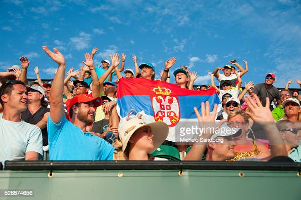 before there third round match during the Miami Open Presented by Itau at Crandon Park Tennis Center on March 27 2016 in Key Biscayne Florida
