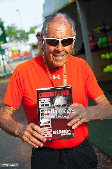 Tennis Legend Nick Bollettieri at the Miami Open Presented by Itau at Crandon Park Tennis Center on March 27 2016 in Key Biscayne Florida