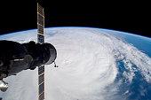 March 30, 2006 - Cyclone Glenda and a docked Soyuz spacecraft.