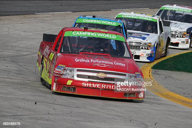 The Grabiak Performance/Watt's Truck Center Chevy Silverado driven by Norm Benning on track during the running of the NASCAR Camping World Truck...