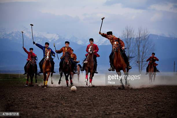 March 31 Sheki Azerbaijan The Azerbaijani National Chovgan team competes in a town on the outskirts of the Sheki region in northern Azerbaijan...