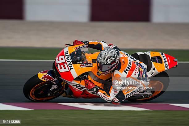 DOHA QATAR March 3rd 2016 Losail Circuit Qatar Marc Marquez who rides Honda for Repsol Honda at the final preseason test before the 2016 FIM...