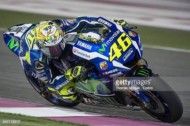 DOHA QATAR March 3rd 2016 Losail Circuit Qatar Valentino Rossi who rides Yamaha for Movistar Yamaha MotoGP at the final preseason test before the...
