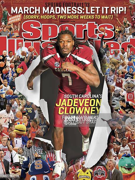 College Football Portrait of South Carolina defensive end Jadeveon Clowney during photo shoot at Charles F Crews Football Facility Columbia SC CREDIT...