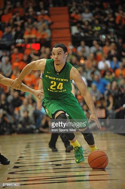 Oregon forward Dillon Brooks during the Oregon Ducks at Oregon State at Gill Coliseum in Corvallis Oregon