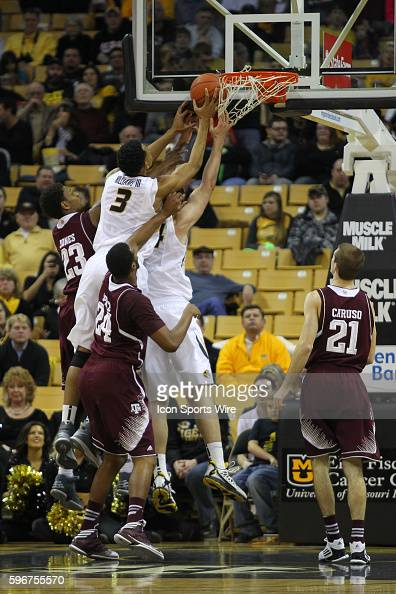 Texas AM Aggies guard Jamal Jones Missouri Tigers forward Johnathan Williams III Texas AM Aggies forward Antwan Space and Missouri Tigers forward...