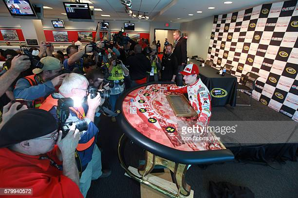 Jeff Gordon Hendrick Motorsports Chevrolet Impala SS is given a Poker Table by LVMS as a retirement gift during Stratosphere Pole Day for the Kobalt...