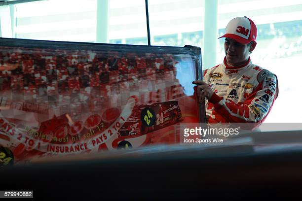 Jeff Gordon Hendrick Motorsports Chevrolet Impala SS is given a photo as a gift by LVMS during Stratosphere Pole Day for the Kobalt 400 Sprint Cup...