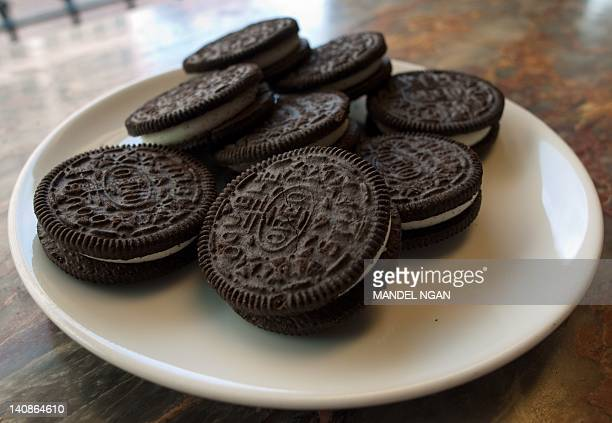 March 7 2012 photo shows a plate of Oreo cookies in Washington DC Technically they're 'chocolate sandwich cookies' a baked concoction of sugar...