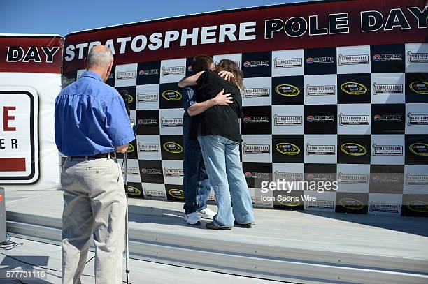 A wedding in during the Stratosphere Pole Day in the Neon Garage at Las Vegas Motor Speedway in Las Vegas NV