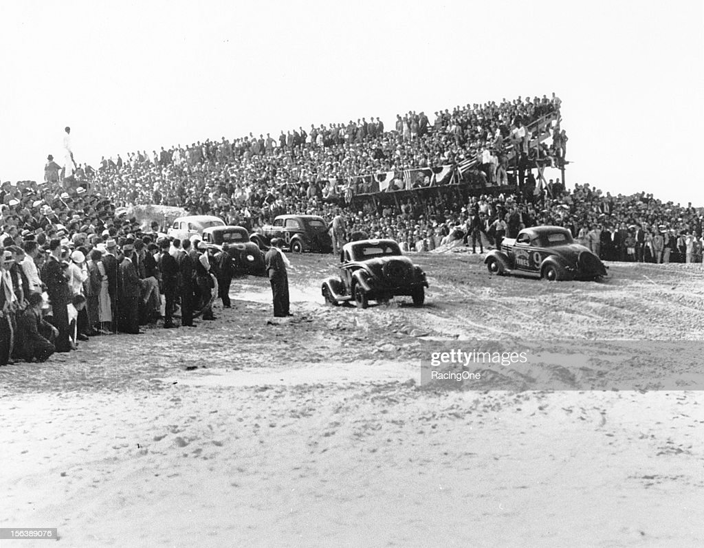 A huge crowd was on hand to watch the first organized stock car race to be held on the Daytona BeachRoad Course Despite the overflow of fans Daytona...