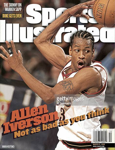 Basketball Philadelphia 76ers Allen Iverson in action pass vs Los Angeles Lakers Philadelphia PA CREDIT Al Tielemans