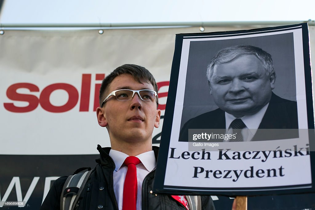 A march commemorating the victims of the 2010 Smolensk airplane crash on April 10, 2015 in Warsaw, Poland. On 10 April, 2010 a Tupolev Tu-154M aircraft of the Polish Air Force crashed in Smolensk, Russia, killing all 96 people on board, including President <a gi-track='captionPersonalityLinkClicked' href=/galleries/search?phrase=Lech+Kaczynski&family=editorial&specificpeople=544054 ng-click='$event.stopPropagation()'>Lech Kaczynski</a> and his wife Maria.