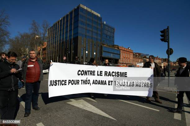 A march took place in Toulouse in protest against police violence after the alleged rape with a truncheon of Theo Luhaka by four policemen in...