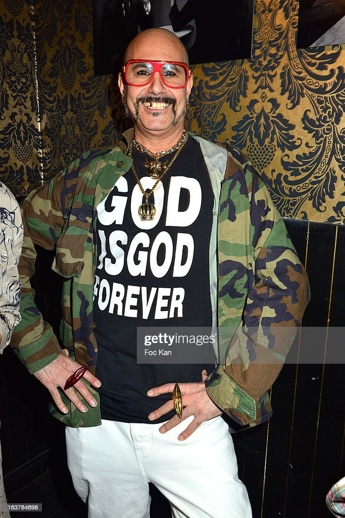 DJ King Sabbah (Claude Sabbah) attends the 'La Dance des Coincidences' Party At The Favella Chicon March15, 2013 in Paris, France.