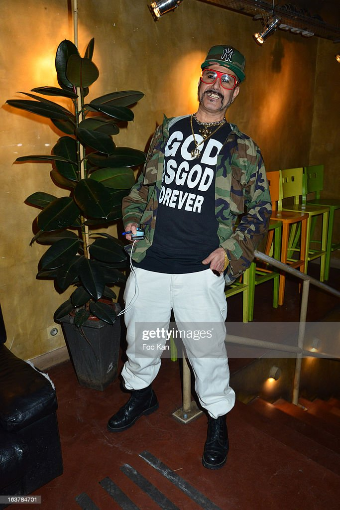 DJ King Sabbah (Claude Sabbah) attends the 'La Dance des Coincidences' Party At The Favella Chic on March15, 2013 in Paris, France.