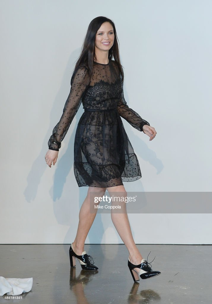 Marchesa Fashion designer/actress <a gi-track='captionPersonalityLinkClicked' href=/galleries/search?phrase=Georgina+Chapman&family=editorial&specificpeople=583945 ng-click='$event.stopPropagation()'>Georgina Chapman</a> attends the Marchesa Spring 2015 Bridal collection show at Canoe Studios on April 11, 2014 in New York City.