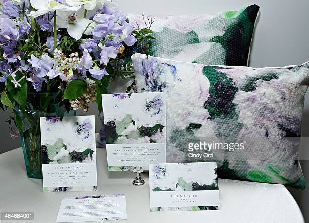 Marchesa gown inspired 'Breathtaking Blossoms' bridal stationery on display as Wedding Paper Divas with Marchesa unveil their new bridal stationery...