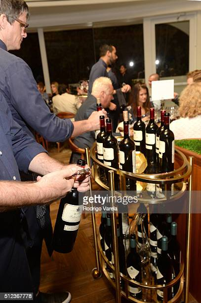 Marchesi di Barolo wine being served at a Dinner Hosted By Francis Mallmann And Paul Qui during 2016 Food Network Cooking Channel South Beach Wine...