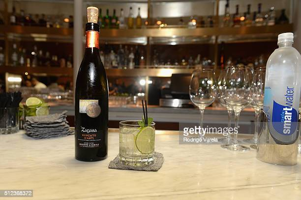 Marchesi di Barolo wine on display at a Dinner Hosted By Francis Mallmann And Paul Qui during 2016 Food Network Cooking Channel South Beach Wine Food...