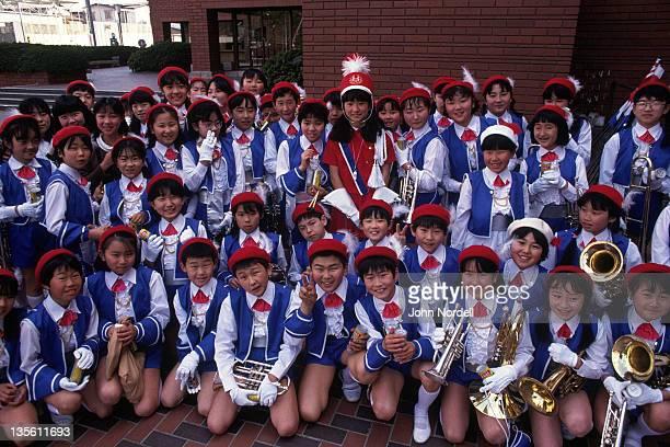 Marching band, Honshu, Japan