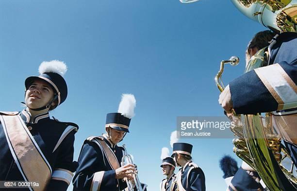 Marching Band Preparing