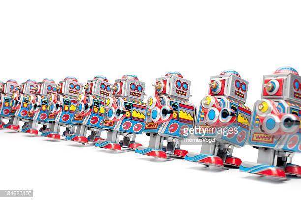 Marschieren tin Spielzeug-Roboter
