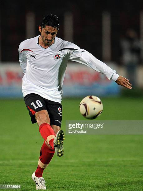 Marcho Dafchev of Lokomotiv Sofia in action during the A League match between PFC CSKA Sofia and PFC Lokomotiv Sofia at the Balgarska Armiya Stadium...