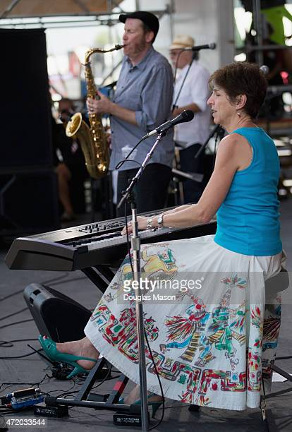 Marcia Ball performs during the 2015 New Orleans Jazz Heritage Festival presented by Shell at Fair Grounds Race Course on May 2 2015 in New Orleans...