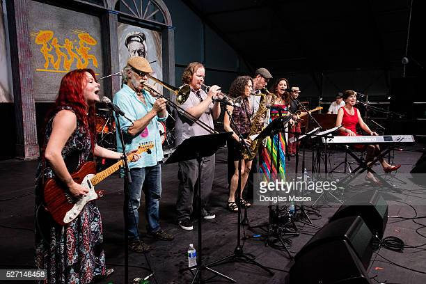 Marcia Ball performs during the New Orleans Jazz Heritage Festival 2016 at Fair Grounds Race Course on May 1 2016 in New Orleans Louisiana