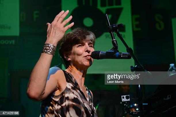 Marcia Ball performs on stage at the WWOZ Piano Nignt on April 27 2015 at the House of Blues in New Orleans United States