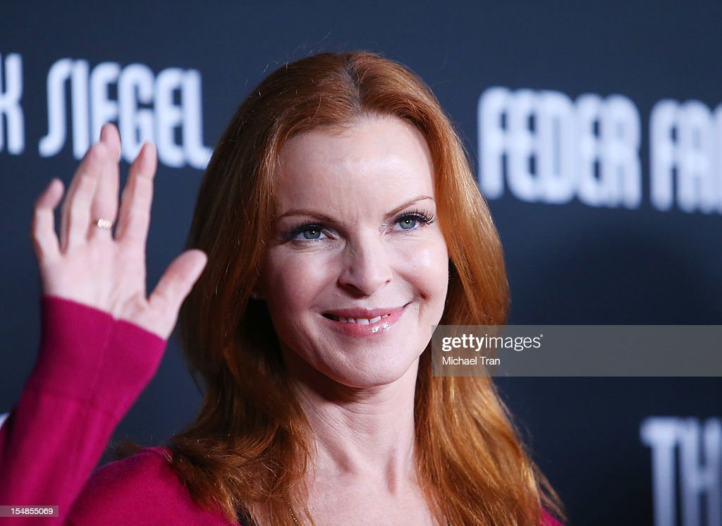 Marcia Cross arrives at the 8th Annual Pink Party held at Hangar 8 on October 27, 2012 in Santa Monica, California.