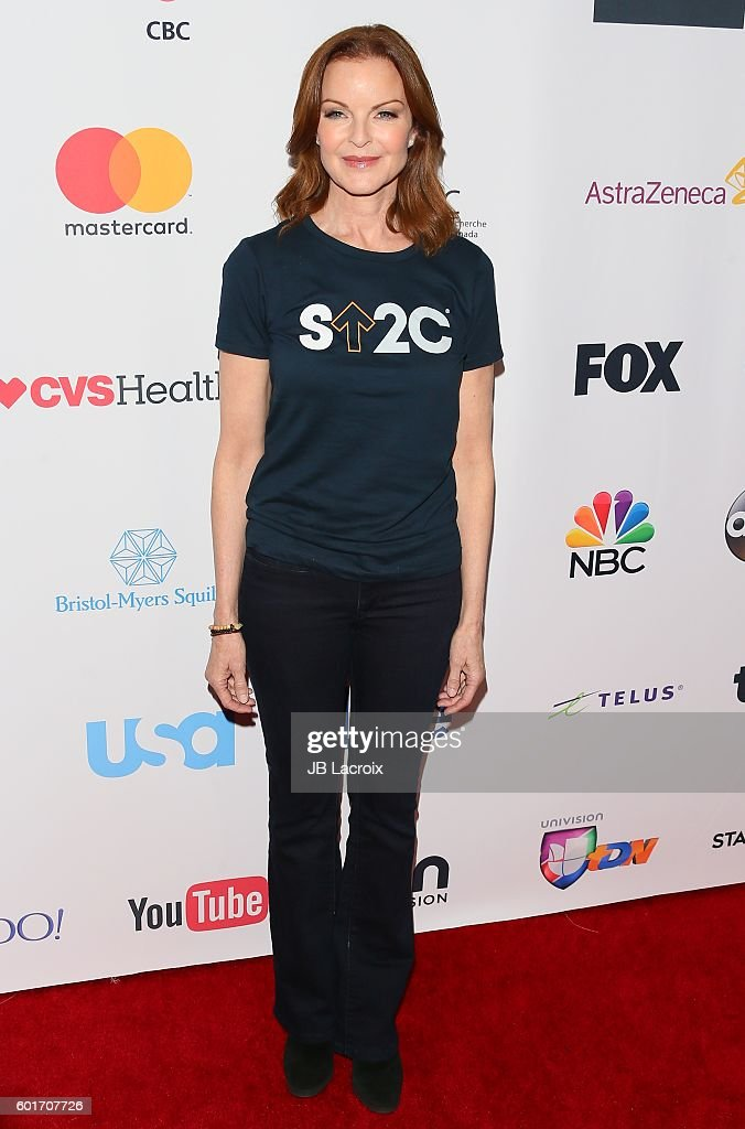 Marcia Cross attends Hollywood Unites for the 5th Biennial Stand Up To Cancer (SU2C), A Program of The Entertainment Industry Foundation (EIF) at Walt Disney Concert Hall on September 9, 2016 in Los Angeles, California.