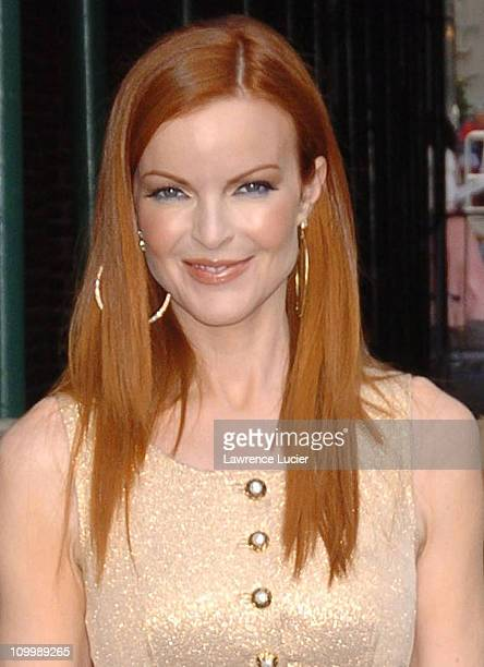 Marcia Cross during Marcia Cross and Lucinda Williams Appear Outside The Late Show with David Letterman August 3 2005 at Ed Sullivan Theater in New...