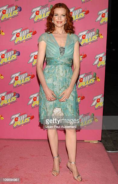 Marcia Cross during Marcia Cross and Nicollette Sheridan CoHost a Premiere Party for Their New 7 UP Plus Commercial Arrivals at Cabana Club in...