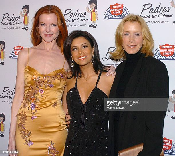 Marcia Cross Eva Longoria and Felicity Huffman during Padres Contra El Cancer 20th Anniversary Gala Honoring Eva Longoria at Skirball Cultural Center...