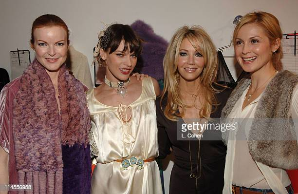 Marcia Cross Milla Jovovich Heather Locklear and Kelly Rutherford