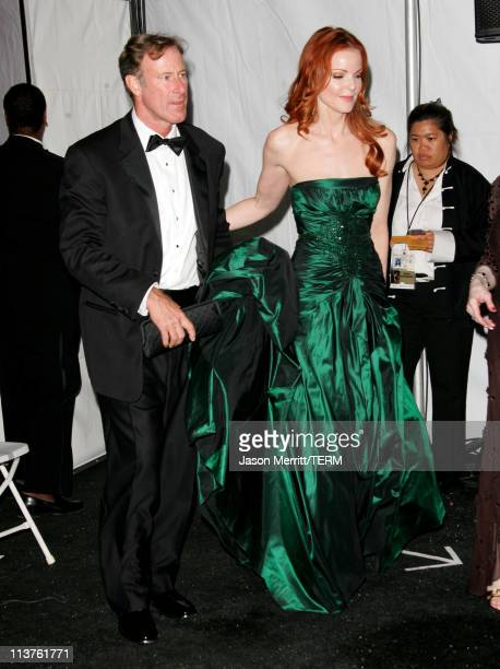 Marcia Cross presenter and fiance Tom Mahoney during 57th Annual Primetime Emmy Awards Press Room at The Shrine in Los Angeles California United...